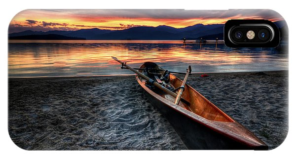 IPhone Case featuring the photograph Sunrise Boat by Matt Hanson