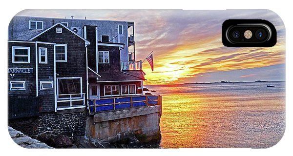 Sunrise By The Barnacle Marblehead Ma IPhone Case