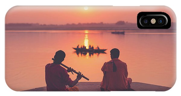 Sunrise By The Ganges IPhone Case