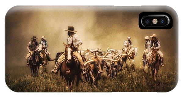 Sunrise Cattle Drive IPhone Case