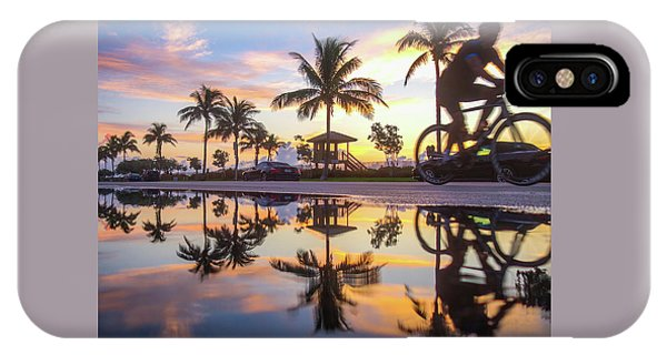 Sunrise Cyclist Delray Beach Florida IPhone Case