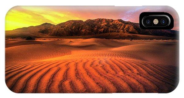 Sunrise-death Valley IPhone Case