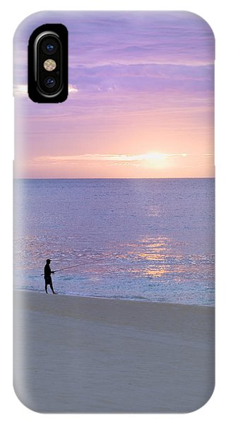Sunrise Fisherman 2 IPhone Case