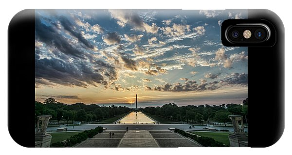 Sunrise From The Steps Of The Lincoln Memorial In Washington, Dc  IPhone Case