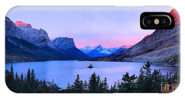 Rocky Mountain Np iPhone Case - Sunrise Glow Over Wild Goose Island by Adam Jewell