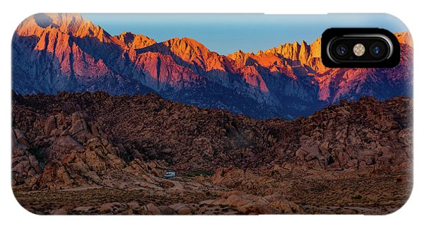 Sunrise Illuminating The Sierra IPhone Case