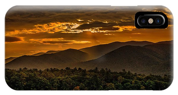 Sunrise In Cades Cove Great Smoky Mountains Tennessee IPhone Case
