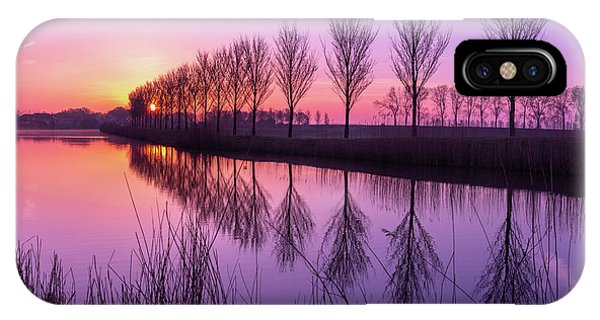 IPhone Case featuring the photograph Sunrise In Holland by Susan Leonard