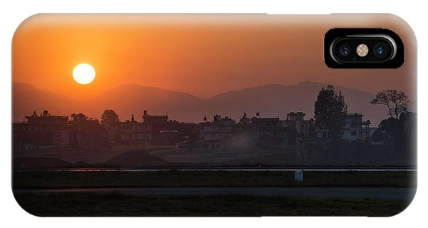IPhone Case featuring the photograph Sunrise In Kathmandu by Owen Weber