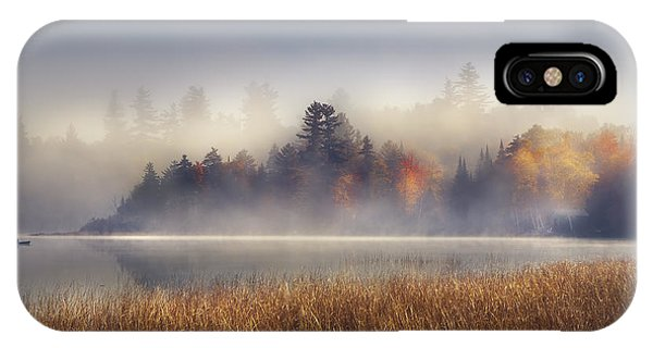 Fog iPhone Case - Sunrise In Lake Placid  by Magda  Bognar
