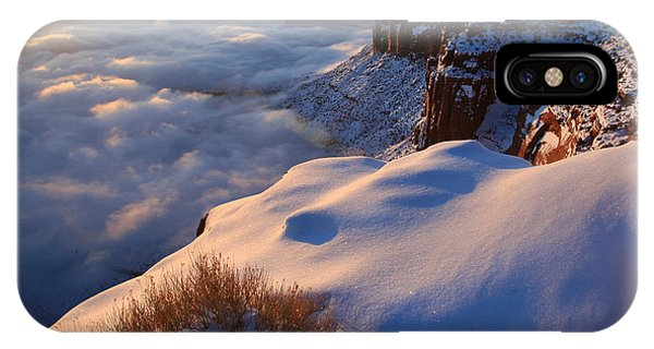 Sunrise Inversion At Buck Canyon Overlook IPhone Case