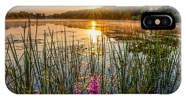 Sunrise Kent Lake IPhone Case