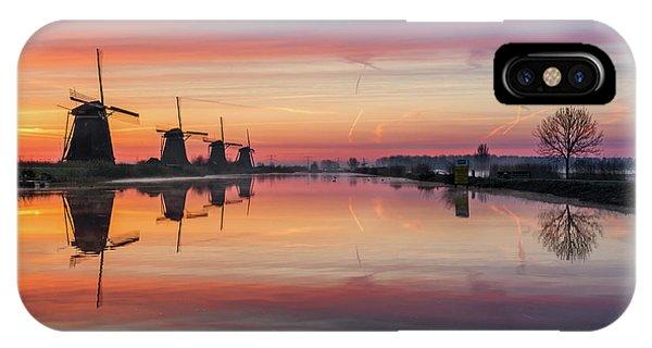Sunrise Kinderdijk IPhone Case
