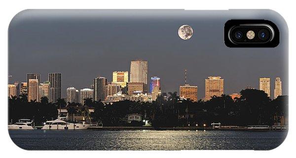 Moonrise Over Miami IPhone Case