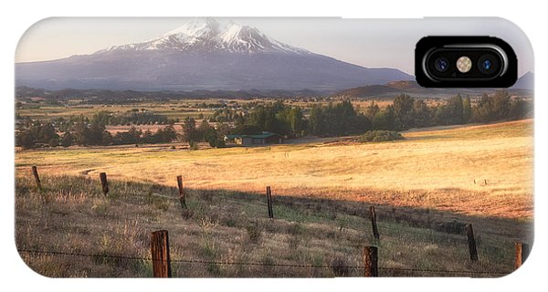 Sunrise Mount Shasta IPhone Case
