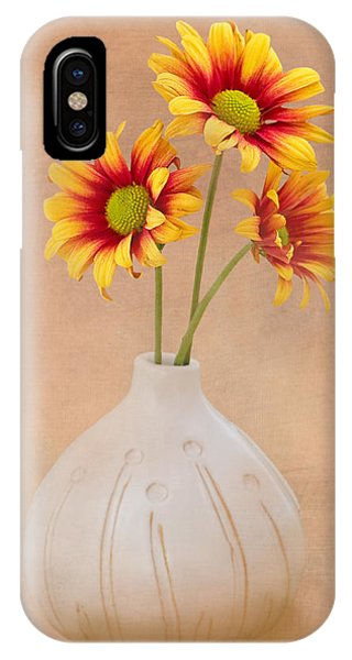 Blooming iPhone Case - Sunrise Mums by Tom Mc Nemar