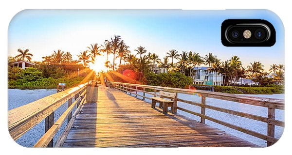 Sunrise Naples Pier Florida IPhone Case
