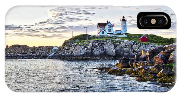 Sunrise Nubble Lighthouse - York - Maine IPhone Case