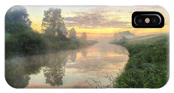 Salo iPhone Case - Sunrise On A Misty River by Veikko Suikkanen