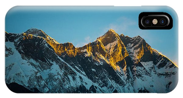 IPhone Case featuring the photograph Sunrise On Everest by Owen Weber