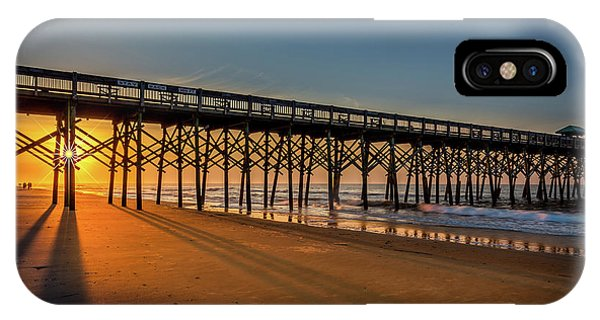 IPhone Case featuring the photograph Sunrise On Folly Island by Rikk Flohr