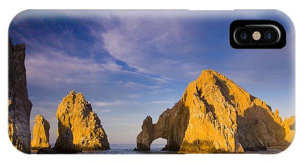 Sunrise On Lands End, Los Arcos Rock IPhone Case