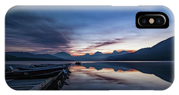 IPhone Case featuring the photograph Sunrise On Mcdonald Lake by Lon Dittrick