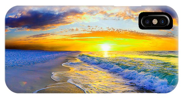 Sunrise On Ocean Waves Beautiful Orange Sunrise IPhone Case