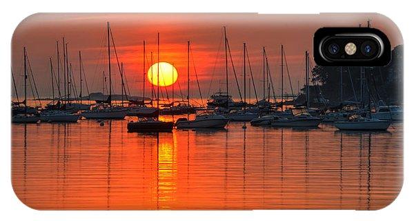 Sunrise On Salem Harbor Salem Ma IPhone Case