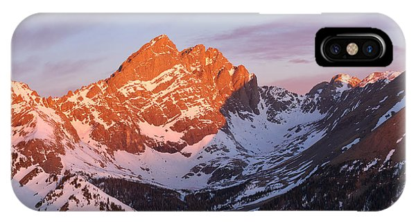 Fourteener iPhone Case - Sunrise On The Crestones  by Aaron Spong