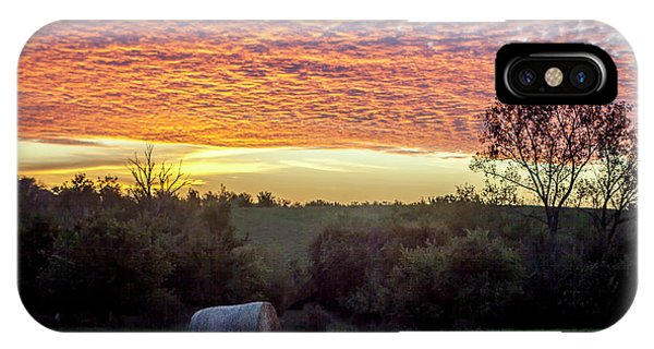 Sunrise On The Farm IPhone Case