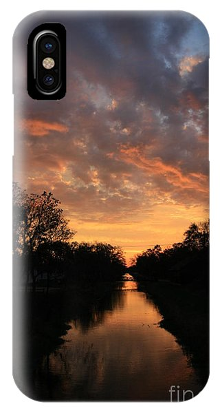 Sunrise On The Illinois Michigan Canal IPhone Case