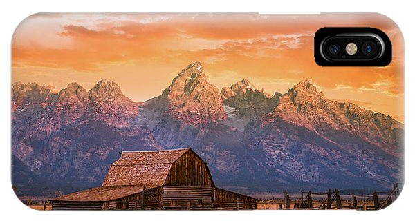 Teton iPhone Case - Sunrise On The Ranch by Darren White