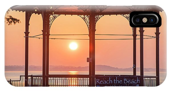 Sunrise On The Revere Beach Bandstand Revere Ma IPhone Case