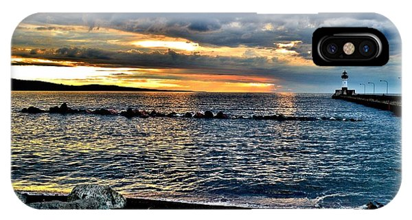 Sunrise On The Rocks IPhone Case