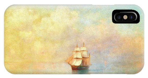 Boats iPhone Case - Sunrise On The Sea by Georgiana Romanovna