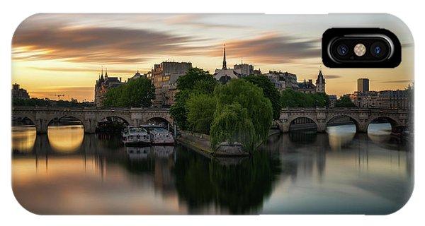 Sunrise On The Seine IPhone Case