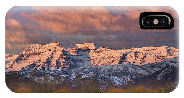 Sunrise On Timpanogos IPhone Case