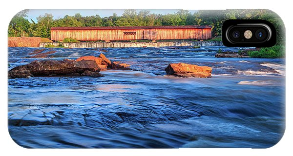 IPhone Case featuring the photograph Sunrise On Watson Mill Bridge by Doug Camara
