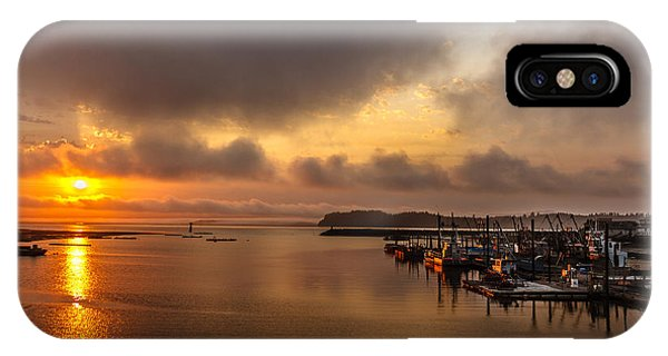 Tidal Marsh iPhone Case - Sunrise On Willapa Bay by Robert Bales