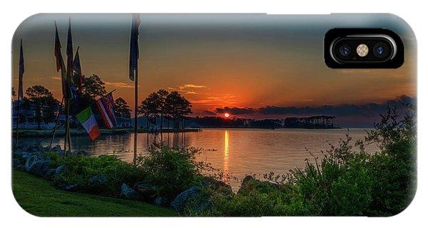 Sunrise On The Neuse 3 IPhone Case