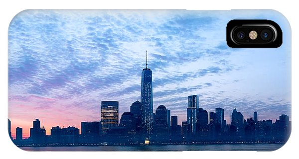Skyline iPhone Case - Sunrise Over The Financial District by S R Shilling