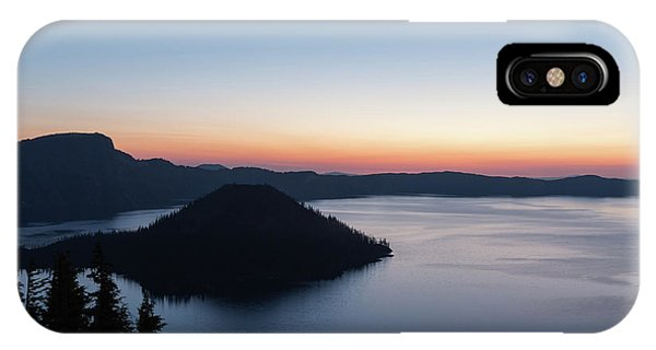 IPhone Case featuring the photograph Sunrise Over Crater Lake by Paul Schultz