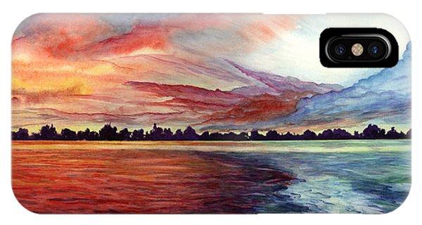 Sunrise Over Indian Lake IPhone Case