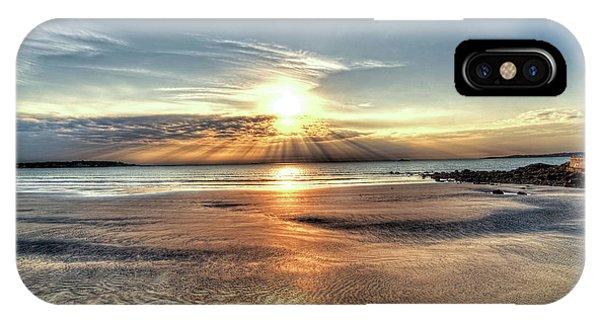 Sunrise Over Red Rock Park Lynn Ma Kings Beach IPhone Case