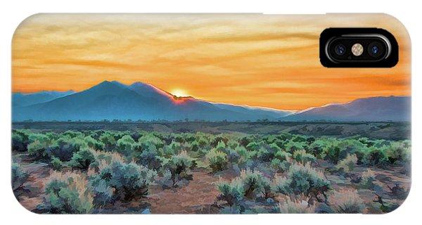 Sunrise Over Taos IPhone Case