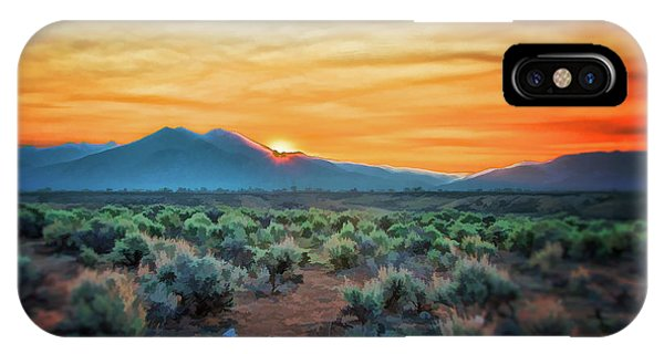 Sunrise Over Taos II IPhone Case