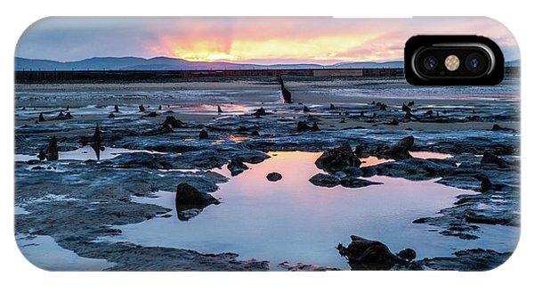 Sunrise Over The Bronze Age Sunken Forest At Borth On The West Wales Coast Uk IPhone Case