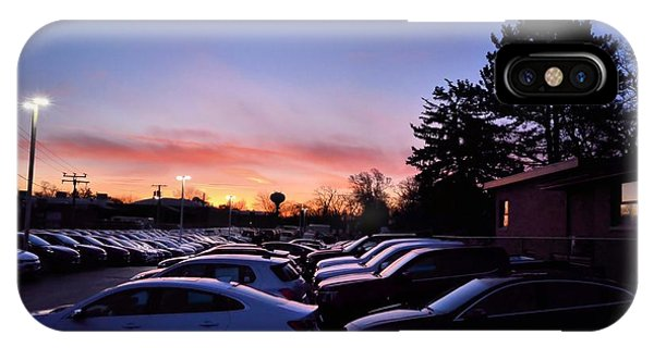 Sunrise Over The Car Lot IPhone Case