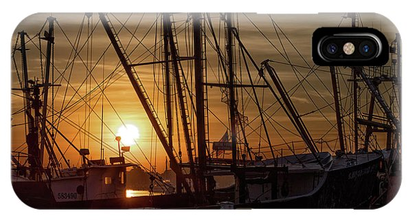Sunrise Over The New Bedford Harbor Phone Case by John Hoey